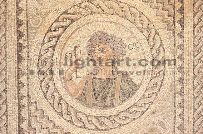 Mosaic, Mosaik, Archeological site of Kourion, Curium, near Limassol, Cyprus. Zypern.