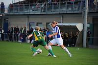 VOETBAL: HEERENVEEN: 02-09-2014, Sportpark Skoatterwâld, Damesvoetbal SC Heerenveen - ADO Den Haag, uitslag 0-3, Sylvia Smit aan de bal, ©foto Martin de Jong