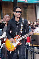 2 September 2011- New York, NY- Lenny Kravitz performs on NBC's ' Today Show ' Toyota Concert Series to promote his new album ' Black and White America at Rockefeller Center in New York City. September 2, 2011. © Mpi43/Media Punch Inc