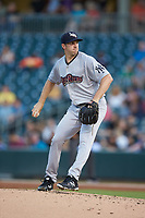 Scranton/Wilkes-Barre RailRiders starting pitcher Brody Koerner (90) in action against the Charlotte Knights at BB&T BallPark on August 14, 2019 in Charlotte, North Carolina. The Knights defeated the RailRiders 13-12 in ten innings. (Brian Westerholt/Four Seam Images)