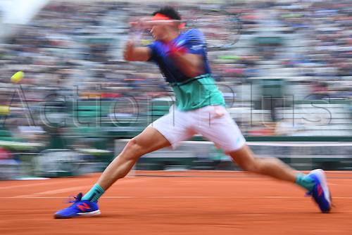 29.05.2016. Stade Roland Garros, Paris, France. Roland Garros French Open Tennis Day 8.  Milos Raonic (Can)