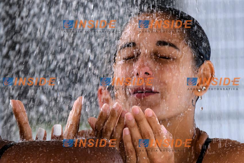 Pamela Ware Canada <br /> 3m Springboard Sincro women <br /> Roma 20-06-2016 Stadio del Nuoto Foro Italico Tuffi Campionati Italiani <br /> Foto Andrea Staccioli Insidefoto