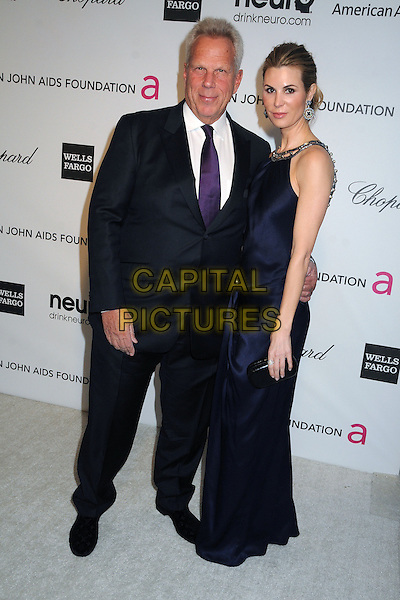 Steve Tisch, Nicole Dairy.21st Annual Elton John Academy Awards Viewing Party held at West Hollywood Park, West Hollywood, California, USA..February 24th, 2013.oscars full length dress blue black white shirt suit purple tie.CAP/ADM/BP.©Byron Purvis/AdMedia/Capital Pictures.