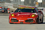 31 August 2007: The Risi Competizione Ferrari F430  GT driven by Eric Helary and Gianmaria Bruni at the Detroit Sports Car Challenge presented by Bosch, Detroit, MI