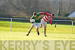 Stephen O'Brien  Kerry in action against TJ Brosnan Cork IT in the semi final of the McGrath Cup at John Mitchells Grounds on Sunday.