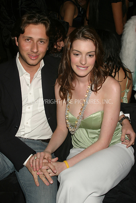 WWW.ACEPIXS.COM . . . . . ....NEW YORK, FEBRUARY 6, 2005 ....Anne Hathaway at the Luca Luca tent show. ....Please byline: ACE009 - ACE PICTURES.. . . . . . ..Ace Pictures, Inc:  ..Philip Vaughan (646) 769-0430..e-mail: info@acepixs.com..web: http://www.acepixs.com