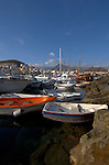 Small crafts and yachts, Los Cristianos harbour,  Tenerife, Canary Islands.