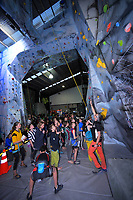 Action from the AIMS Games rockclimbing at Rocktopia in Mount Maunganui, New Zealand on Wednesday, 12 September 2018. Photo: Dave Lintott / lintottphoto.co.nz