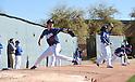 (L-R) Kenta Maeda, Pedro Baez (Dodgers),<br /> FEBRUARY 21, 2016 - MLB :<br /> Los Angeles Dodgers spring training baseball camp in Glendale, Arizona, United States. (Photo by AFLO)