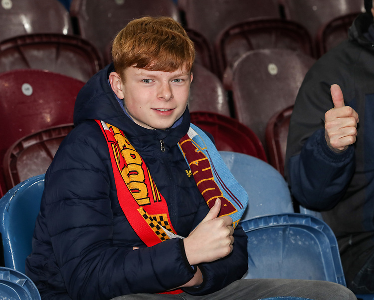 Burnley supporters<br /> <br /> Photographer Andrew Kearns/CameraSport<br /> <br /> The Premier League - Burnley v Liverpool - Wednesday 5th December 2018 - Turf Moor - Burnley<br /> <br /> World Copyright © 2018 CameraSport. All rights reserved. 43 Linden Ave. Countesthorpe. Leicester. England. LE8 5PG - Tel: +44 (0) 116 277 4147 - admin@camerasport.com - www.camerasport.com