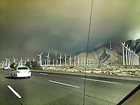 Mountain Center fire as seen from inside a car on the 10 Freeway near Cabazon. July 15, 2013