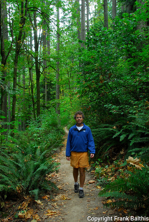 David Briggs hikes in Forest Park in Portland