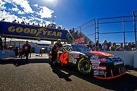 Nov. 9, 2008; Avondale, AZ, USA; The car of NASCAR Sprint Cup Series driver Juan Pablo Montoya goes through inspection prior to the Checker Auto Parts 500 at Phoenix International Raceway. Mandatory Credit: Mark J. Rebilas-