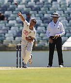 November 4th 2017, WACA Ground, Perth Australia; International cricket tour, Western Australia versus England, day 1; Western Warriors Ashton Turner in bowling action