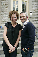 Montreal (Qc) Canada - sept 22 2010- GRIS launch its new campgain against homophobia : Que donneriez-vous pour que líhomophobie disparaisse? In photo :Macha Limonchik , Vincent Bolduc.