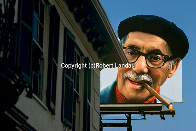 Groucho Marx billboard on Sunset Strip promoting a book