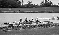 Nottingham. United Kingdom. <br /> <br /> GB Masters Championships, National Water Centre, Holme Pierrepont<br /> <br /> {COW}  10/06/2017<br /> <br /> <br /> [Mandatory Credit Peter SPURRIER/Intersport Images] Gulls and Ducks, resting. on the beach, during the competition