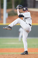 Wake Forest Demon Deacons starting pitcher Connor Johnstone (30) in action against the Davidson Wildcats at Wilson Field on March 19, 2014 in Davidson, North Carolina.  The Wildcats defeated the Demon Deacons 7-6.  (Brian Westerholt/Four Seam Images)