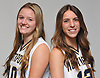 Northport girls basketball duo Hannah Stockman, left, and Danielle Pavinelli pose for a portrait during Newsday's 2018-19 season preview photo shoot at company headquarters in Melville on Monday, Dec. 3, 2018.