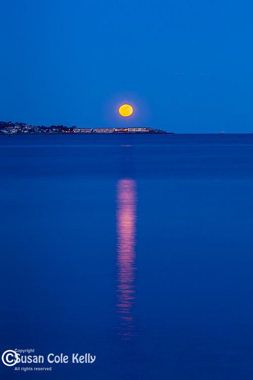 Moonrise over Nahant, Massachusetts, USA