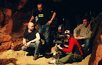 The Descent (2005) <br /> Behind the scenes photo of Neil Marshall<br /> *Filmstill - Editorial Use Only*<br /> CAP/KFS<br /> Image supplied by Capital Pictures