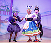 Jack and the Beanstalk <br /> by Susie McKenna with music by Steven Edis <br /> at the Hackney Empire, London, Great Britain <br /> press photocall <br /> 25th November 2015  <br /> <br /> Clive Rowe as Dame Daisy Trott<br /> <br /> <br /> Jocelyn Jee Esien as Stomach Bug<br /> <br /> Tony Timberlake  as Nasty Bug<br /> <br /> <br /> Photograph by Elliott Franks <br /> Image licensed to Elliott Franks Photography Services