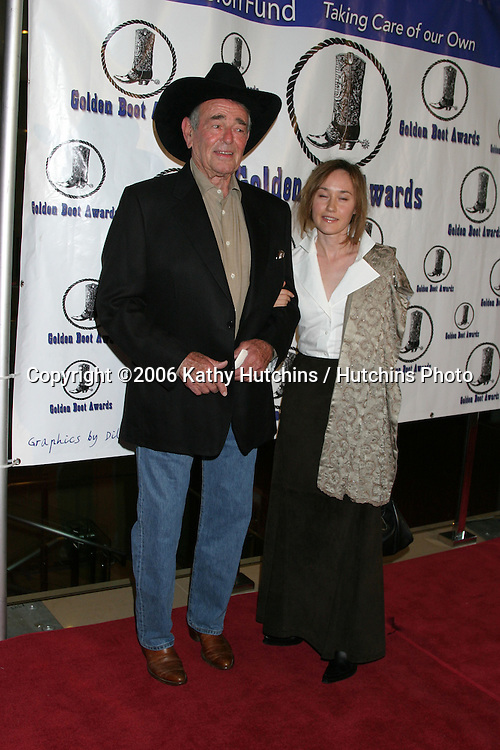 Stuart Whitman & wife.Golden Boot Awards.Beverly Hilton Hotel.Beverly Hills, CA.August 12, 2006.©2006 Kathy Hutchins / Hutchins Photo...