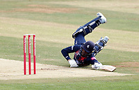 Daniel Bell-Drummond of Kent scrambles in for a single during Kent Spitfires vs Sussex Sharks, Vitality Blast T20 Cricket at The Spitfire Ground on 12th September 2020