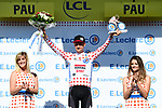 Tim Wellens (BEL) Lotto-Soudal retains the mountains Polka Dot Jersey at the end of Stage 13 of the 2019 Tour de France an individual time trial running 27.2km from Pau to Pau, France. 19th July 2019.<br /> Picture: ASO/Alex Broadway | Cyclefile<br /> All photos usage must carry mandatory copyright credit (© Cyclefile | ASO/Alex Broadway)