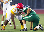 Torrance, CA 09/08/17 - Ge' Wright (Hawthorne #70) in action during the Hawthorne vs South Torrance CIF-SS non-conference Varsity football game at South Torrance High School.