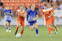 Houston, TX - Sunday Sept. 11, 2016: Cami Privett, Natasha Dowie during a regular season National Women's Soccer League (NWSL) match between the Houston Dash and the Boston Breakers at BBVA Compass Stadium.