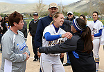 Dakota Robinson at the Sophomore Day celebration after the first game of the Western Nevada College softball doubleheader on Saturday, April 30, 2016 at Pete Livermore Sports Complex. Photo by Shannon Litz/Nevada Photo Source