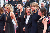 Valeria Golino, Noemie Merlant, Celine Sciamma, Adele Haenel and Luana Bajrami attending the 'Portrait de la jeune fille en feu / Portrait of a Lady on Fire' premiere during the 72nd Cannes Film Festival at the Palais des Festivals on May 18, 2019 in Cannes, France