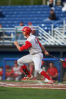 Williamsport Crosscutters first baseman Brendon Hayden (43) at bat during a game against the Batavia Muckdogs on August 27, 2015 at Dwyer Stadium in Batavia, New York.  Batavia defeated Williamsport 3-2.  (Mike Janes/Four Seam Images)