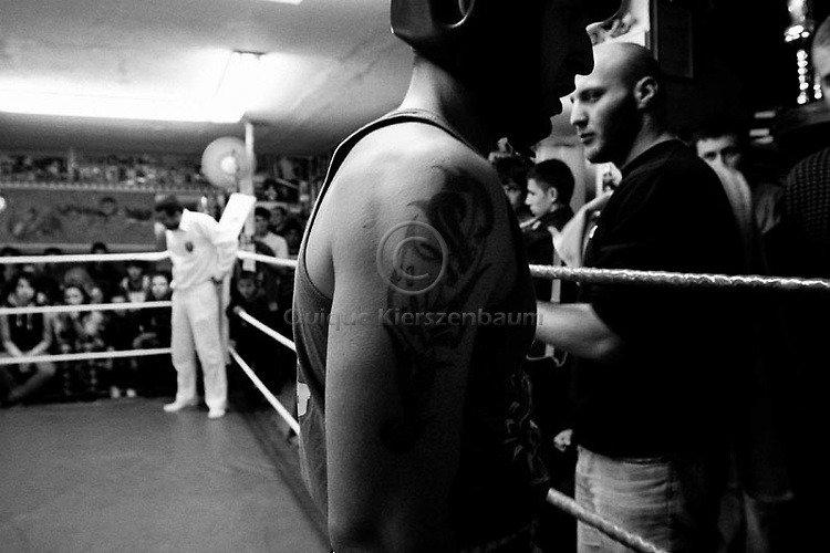 Boxers are seen during the Jerusalem Cup,at the Jerusalem Boxing Club, November 20, 2009.  Located in a bomb shelter, the club has 150 members in which the big majority is Jewish, mostly emigrants from the former Soviet Union , with a minority of Palestinians from East Jerusalem (15 members). Lately the Palestinian boxers decided to open a club in East Jerusalem in order to recruit more Palestinian boxers.