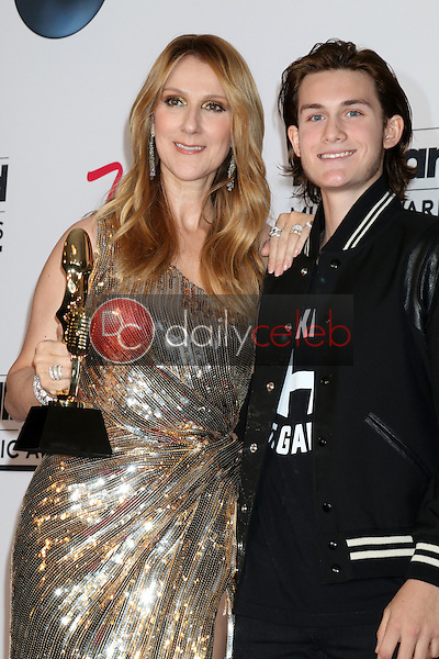 Celine Dion, Rene-Charles<br /> at the 2016 Billboard Music Awards Press Room, T-Mobile Arena, Las Vegas, NV 05-22-16<br /> David Edwards/Dailyceleb.com 818-249-4998