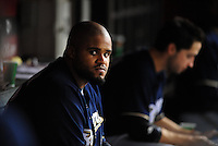 Jun. 30, 2008; Phoenix, AZ, USA; Milwaukee Brewers first baseman Prince Fielder against the Arizona Diamondbacks at Chase Field. Mandatory Credit: Mark J. Rebilas-