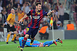 21.10.2014 Barcelona, Spain. UEFA Champions League matchday 3 Group 3. Picture show Leo Messi in action during game between FC Barcelona against Ajax at Camp Nou