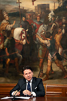 The Italian Premier Giuseppe Conte during a press conference at Palazzo Chigi to explain the new measures for the School. Rome (Italy), June 26th 2020<br /> Foto Pool Antonio Masiello/ Insidefoto