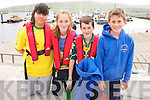 Eileen Witt, Sarah Partington, Jason Sheehy and Aaron O'Connor, from Dingle, at the Dingle Regatta on Saturday afternoon.
