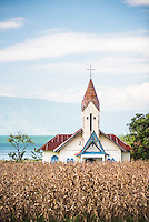 Church at Lake Toba (Danau Toba), North Sumatra, Indonesia