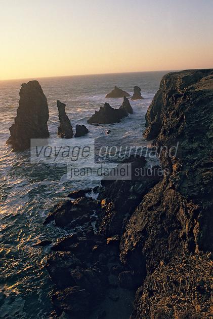 Europe/France/Bretagne/56/Morbihan/Belle-île/Port-Coton: Les aiguilles de Port-Coton