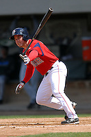 Outfielder Juan Carlos Linares #17 of the Pawtucket Red Sox during a game versus the Syracuse Chiefs on April 21, 2011 at McCoy Stadium in Pawtucket, Rhode Island. Photo by Ken Babbitt /Four Seam Images
