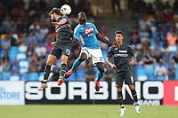 Bartosz Bereszynski of Sampdoria and Kalidou Koulibaly of Napoli compete for the ball<br /> Napoli 14-9-2019 Stadio San Paolo <br /> Football Serie A 2019/2020 <br /> SSC Napoli - UC Sampdoria<br /> Photo Cesare Purini / Insidefoto