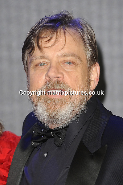 NON EXCLUSIVE PICTURE: PAUL TREADWAY / MATRIXPICTURES.CO.UK<br /> PLEASE CREDIT ALL USES<br /> <br /> WORLD RIGHTS<br /> <br /> American actor Mark Hamill attending the European Premiere of Star Wars: The Force Awakens in Leicester Square, in London.<br /> <br /> DECEMBER 16th 2015<br /> <br /> REF: PTY 153700