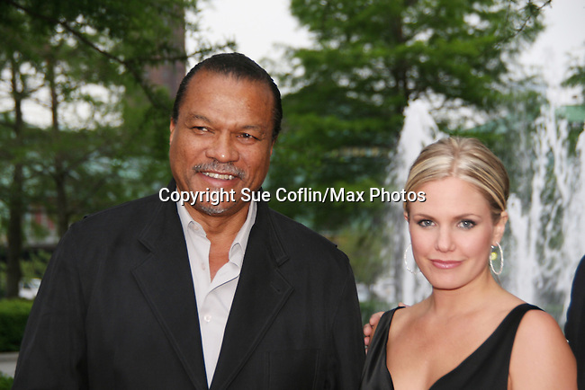 Night Shift's Billy Dee Williams and ATWT's Terri Colombino at the Gala Awards Ceremony of the 2008 Hoboken International Film Festival which concluded with Billy Dee Williams being presented the Lifetime Achievement Award and then nominees and winners were announced on June 5, 2008 at Pier A Park, Hoboken, New Jersey.  (Photo by Sue Coflin/Max Photos)