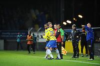 VOETBAL: LEEUWARDEN: Cambuur Stadion, 10-05-2012, SC Cambuur - VVV, Nacompetitie, Eindstand 0-0, Wissel, Bob Schepers (#27) gaat naar de kant, Mark de Vries (#12) komt in het veld, ©foto Martin de Jong