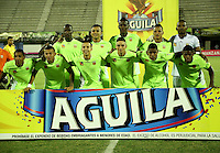 BARRANCABERMEJA- COLOMBIA - 06-08-2016: Los jugadores de Alianza Petrolera posan para una foto, durante partido Alianza Petrolera y Envigado FC, por la fecha 7 por la Liga Aguila II 2016 en el estadio Daniel Villa Zapata en la ciudad de Barrancabermeja. / The players of Alianza Petrolera pose for a photo, during a match between Alianza Petrolera and Envigado FC, for date 7 of the Liga Aguila II 2016 at the Daniel Villa Zapata stadium in Barrancabermeja city. Photo: VizzorImage  / Jose D Martinez / Cont.