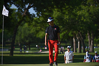 Kevin Na (USA) looks over the green on 7 during round 2 of the Fort Worth Invitational, The Colonial, at Fort Worth, Texas, USA. 5/25/2018.<br /> Picture: Golffile | Ken Murray<br /> <br /> All photo usage must carry mandatory copyright credit (&copy; Golffile | Ken Murray)