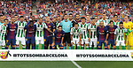 Teams picture Tots son Barcelona before  La Liga game between FC Barcelona v Betis at Camp Nou
